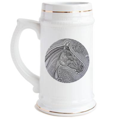 Пивная кружка Лошадь
