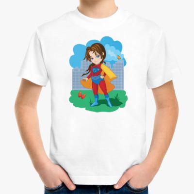 Детская футболка Супер девочка