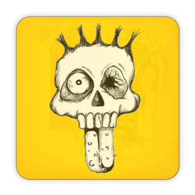 Костер (подставка под кружку) Подставка Scull Face