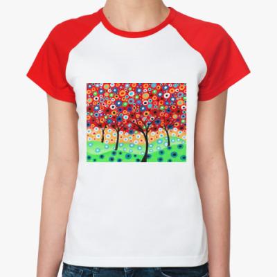 Женская футболка реглан Сад