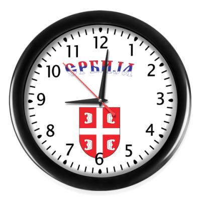 Настенные часы Сербский щит