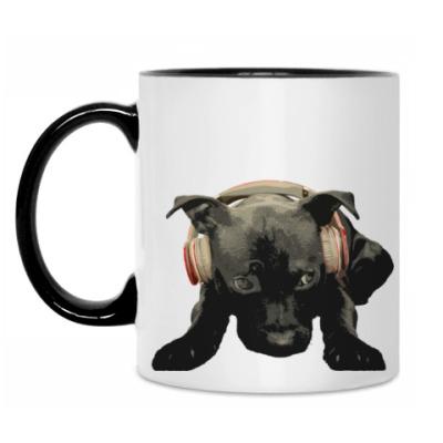 Кружка Собака в наушниках