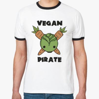 Футболка Ringer-T Веган пират