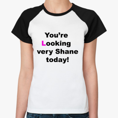 Женская футболка реглан  Shane