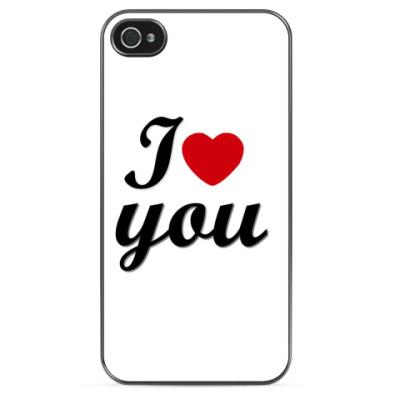 Чехол для iPhone I love you