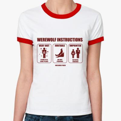 Женская футболка Ringer-T Новолуние