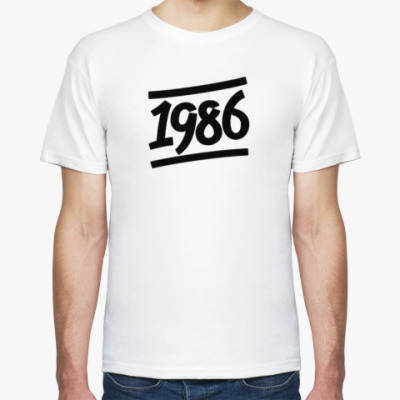 Футболка Надпись 1986