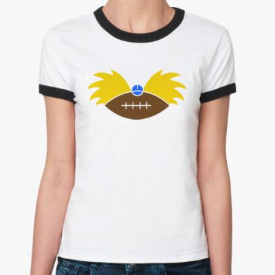 Женская футболка Ringer-T Эй, Арнольд