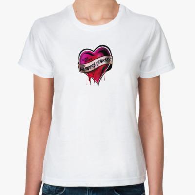 Классическая футболка Дневники вампира (Сердце)