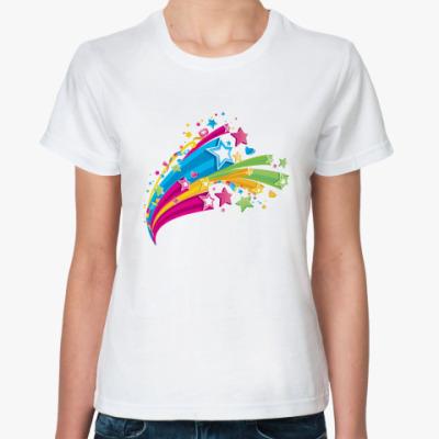 Классическая футболка  Звездный дождь