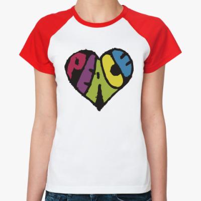 Женская футболка реглан Сердце мира