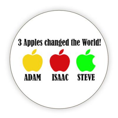 Костер (подставка под кружку) 3 яблока изменили мир