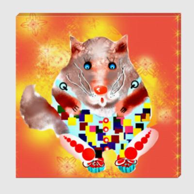 Холст Солнечный кот