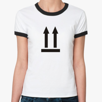 Женская футболка Ringer-T Верх — Смотри в глаза
