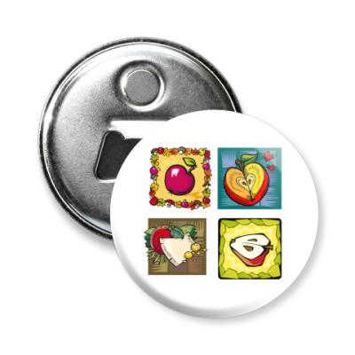 Магнит-открывашка яблоки