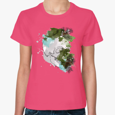 Женская футболка Январский череп
