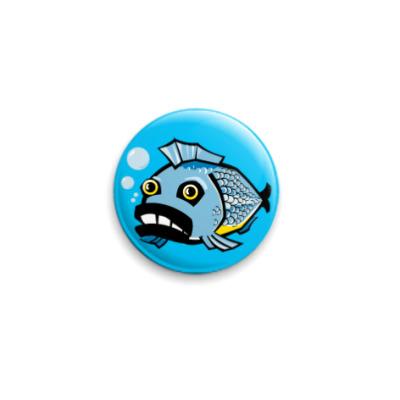 Значок 25мм fish