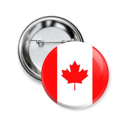 Значок 50мм Канада, Canada