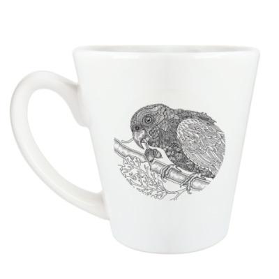 Чашка Латте Попугай