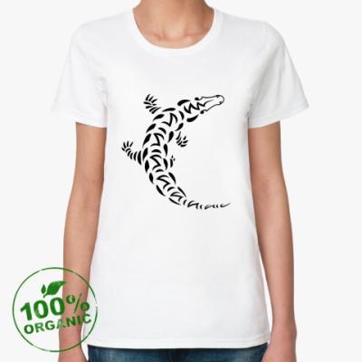 Женская футболка из органик-хлопка Крокодил