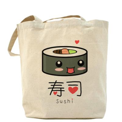 Сумка Love Sushi Холщовая сумка