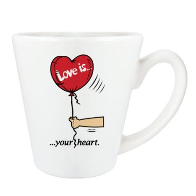 Чашка Латте Love is...