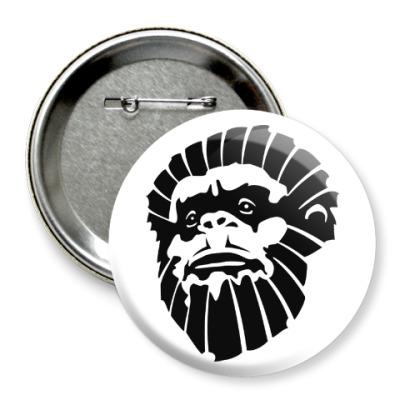 Значок 75мм Лицо обезьяны