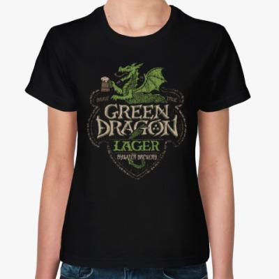 Женская футболка Зеленый Дракон