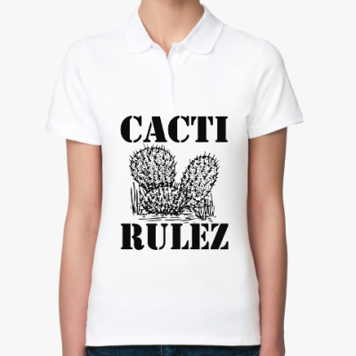 Женская рубашка поло Cacti Rulez