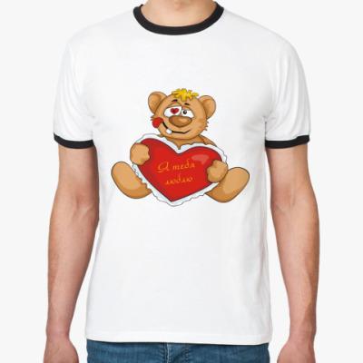Футболка Ringer-T Медведь и сердце