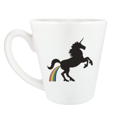 Чашка Латте Единорог и радуга