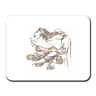 Коврик для мыши конь