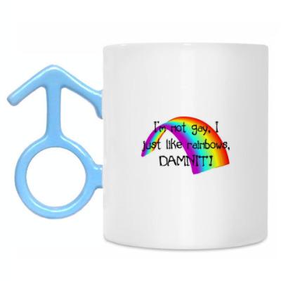 Кружка I just like rainbow...