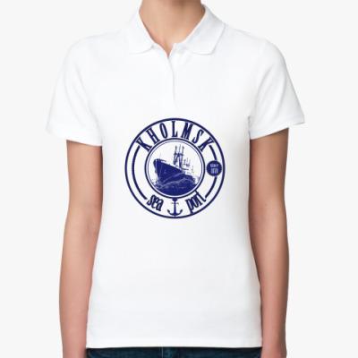 Женская рубашка поло Сахалин,Sakhalin