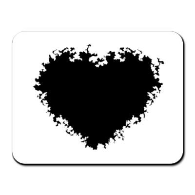 Коврик для мыши black heart