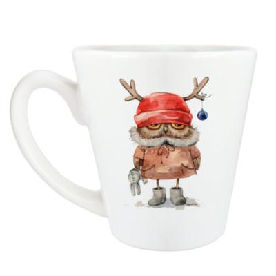 Чашка Латте Сова с рожками