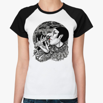 Женская футболка реглан Лунный Пьеро