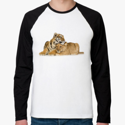 Футболка реглан с длинным рукавом Тигры