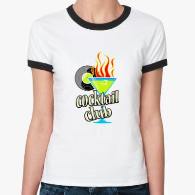 Женская футболка Ringer-T Клубный коктейль