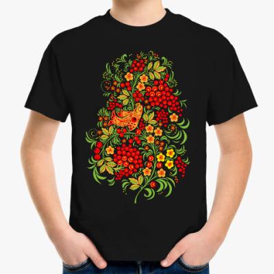 Детская футболка Русская роспись хохлома