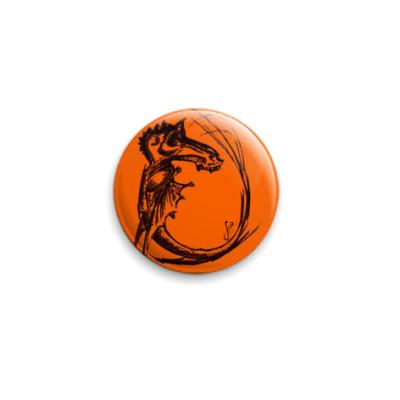 Значок 25мм   Оранжевый 25 мм