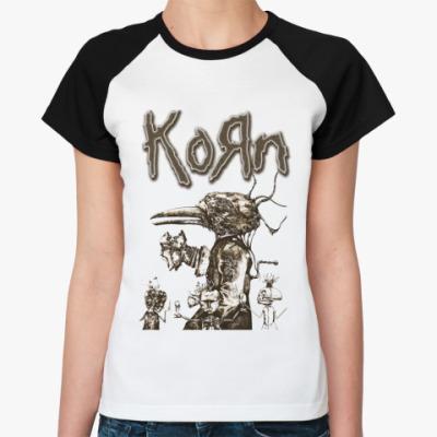 Женская футболка реглан Korn