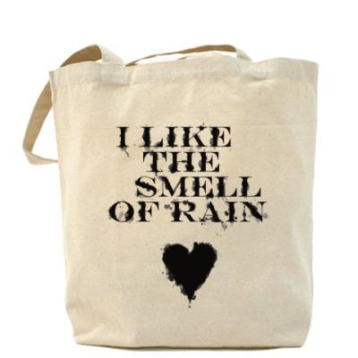 Сумка Холщовая сумка Я люблю дождь