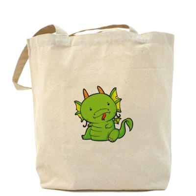 Сумка Холщовая сумка Дракоша