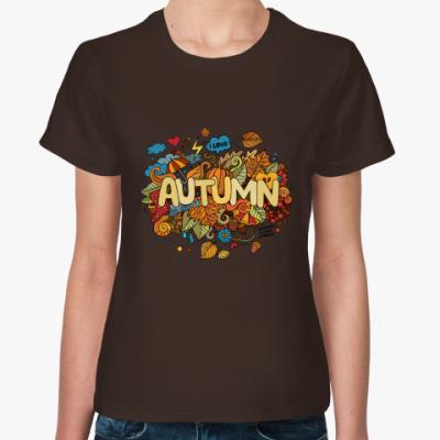 Женская футболка 'Я люблю Осень'