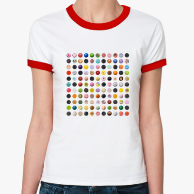 "Женская футболка Ringer-T Ringer-Ж ""Карамельное поле"""