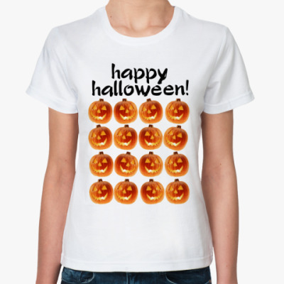 Классическая футболка Happy Halloween