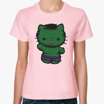 Женская футболка Китти Халк