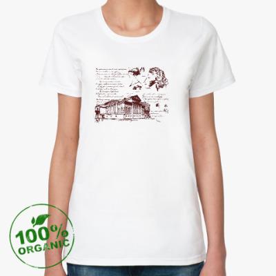 Женская футболка из органик-хлопка Пушкиниана