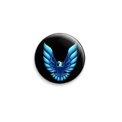 Значок 25мм  25 мм Bluebird black